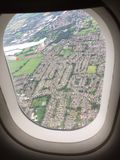 Paris. Plane birdview tourist scenery Royalty Free Stock Images