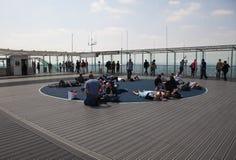 Paris, plate-forme d'observation sur le toit du gratte-ciel de Montparnasse Photo libre de droits