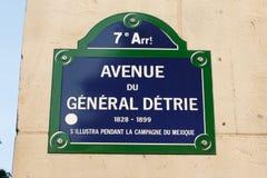 Paris-Platte Lizenzfreies Stockbild