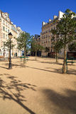 Paris Plaza. Typical Parisian plaza/square in the early morning sunlight royalty free stock photos