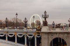 Paris. Pont Alexandre 3. Stock Photos