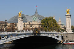 Paris Pont Alexandre III Stock Photography