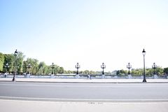 Paris Pont Alexandre III. A daytime shot of the Pont Alexandre III in Paris Royalty Free Stock Photo