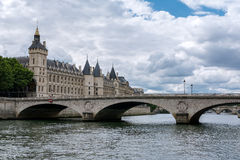 Paris - The Pont au Change stock photography