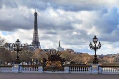 Paris pont cityscape Royalty Free Stock Photos