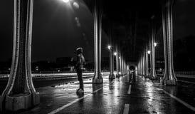 Paris from Pont de Bir-Hakeim Stock Photo