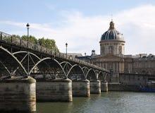 Paris - Pont des Arts and  Instutut de France Stock Photo