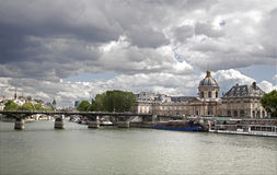 Paris - Pont des Arts and Instutut de France Stock Image