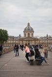Paris - Pont des Arts and Instutut de France Royalty Free Stock Images