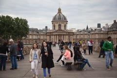 Paris - Pont des Arts and Instutut de France Stock Photos