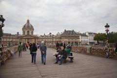 Paris - Pont des Arts and Instutut de France Royalty Free Stock Photos