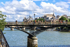 Paris- The Pont des Arts (Passerelee des Arts) Stock Images