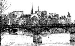 Paris-Pont DES-Künste stock abbildung