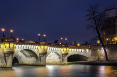 Paris, Pont Neuf, blue hour Royalty Free Stock Images