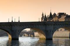 Paris, pont Neuf bridge Stock Images