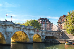 Paris, Pont Neuf. On river Seine Stock Photo