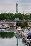 Paris, The Port Of Arsenal Stock Image