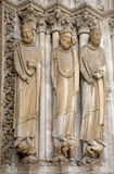 Paris - portal of Saint Denis gothic cathedral Stock Photography