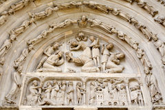 Paris - portal of Saint Denis  - gothic cathedral Stock Image