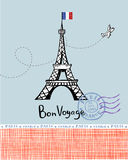 Paris post card Royalty Free Stock Photos
