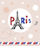 Paris post card Stock Photos