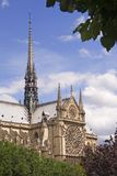 Paris postcard. Side view of Notre Dame de Paris Stock Photos