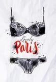 Paris poster black lingerie Stock Image