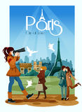 Paris Poster Illustration Royalty Free Stock Images