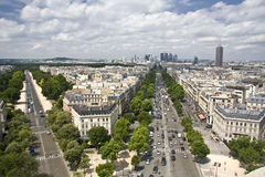 paris powietrzny widok fotografia stock