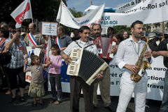 Paris Protest Against Roma Expulsions Royalty Free Stock Photography
