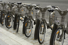 Paris, public bicycle rental Royalty Free Stock Image