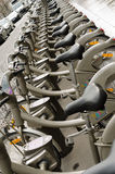 Paris, public bicycle rental Stock Image