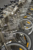Paris, public bicycle rental Royalty Free Stock Photo
