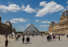Paris. Pyramid of the Louvre royalty free stock photos