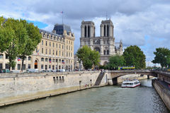 Paris. Quay of the river Seine Stock Photo