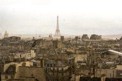 Paris in rain Stock Photo