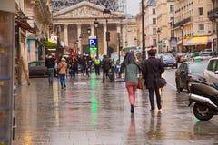 Paris rainy Stock Images