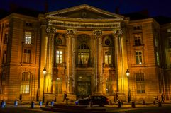 Paris-Rathaus des 5. Bezirkes, Arrondissement Mairie du Cinquieme lizenzfreie stockfotografie