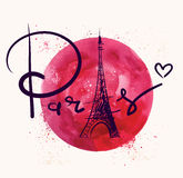Paris and red circle Royalty Free Stock Photos