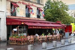Paris restaurant Royalty Free Stock Photos