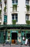 Paris Restaurant. Paris, France - July 14, 2011 - The quaint Le Petit Zinc restaurant on the Left Bank of Paris. The superb cuisine draws millions of tourists to Stock Images