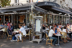 Paris Restaurant at lunch Time Stock Image