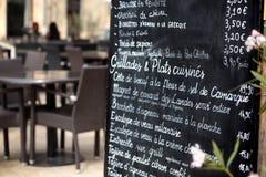 Paris restaurant menu board Royalty Free Stock Photos