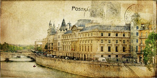 Paris - retro card Royalty Free Stock Photo
