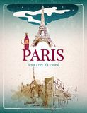 Paris retro poster Stock Photography
