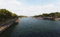 paris Rio Seine Fotos de Stock Royalty Free