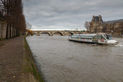 Paris. The River Seine. Stock Photo