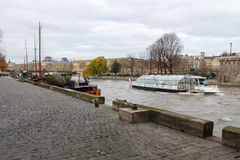 Paris. The River Seine. Stock Photography