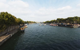 Paris.River Seine. Royalty Free Stock Photos