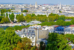 Paris, river Seine, panoramic Stock Photography